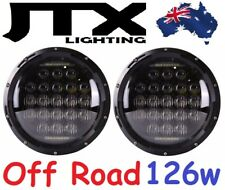 "JTX 7"" Off Road LED Headlights DRL 126w with wiring kit for Suzuki Sierra"