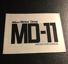 Vintage Nikon MD-11 Camera Motor Drive - User Instruction Manual