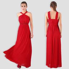 Ropa, calzado y complementos de dama de honor de color principal rojo de poliéster