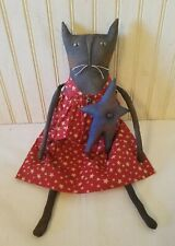 New listing Primitive Grungy Americana Missy Kitty Cat Doll & Her Patriotic Star