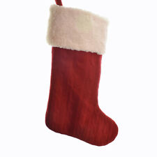 Cable Knit Red and White Stocking, 20-Inch