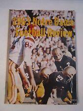 1963 NOTRE DAME  FOOTBALL REVIEW PROGRAM - TUB CBB