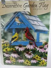 Spring Outdoor Home Yard Decor Garden Flag Spring Birdhouse Flowers
