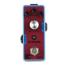 Electric Guitar Octaver Effect Pedal True Bypass Design Mini Single Effect Pedal