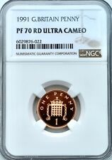 More details for 1991 1p one pence proof ngc pf70 rd great britain  penny
