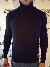 Maglione dolcevita JOHN RICHMOND tg L sweater lupetto lana cachemire nero 160€