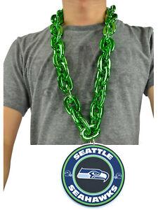 New NFL Seattle Seahawks Big Fan Chain Green Necklace Foam Magnet Made in USA