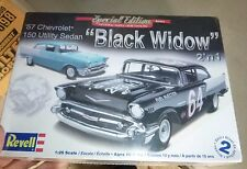 Revell 1957 CHEVY BLACK WIDOW 150 SEDAN 1/25 Model Car Mountain fs 2n1
