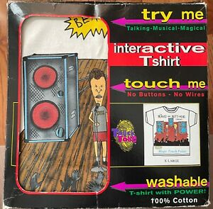 New unused in Box Vintage Beavis & Butthead Touch Tone Interactive T Shirt