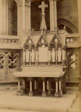 Norvège, cathédrale de Trondheim Vintage Albumen Print  Tirage albuminé  15x