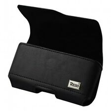 Black Leather Magnetic Pouch for iPhones Samsung Lg ( Pouch fits with case on)