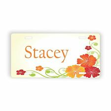 """Flower Desing Personalized Novelty License Plate 6"""" x 12"""" Personalized Custom"""
