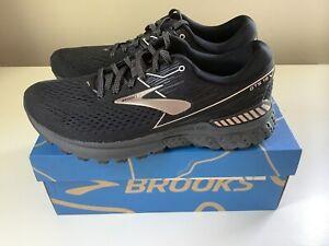 NEW Brooks Adrenaline GTS 19 Metallic Women's Shoes - Black/Gold - Sz 8