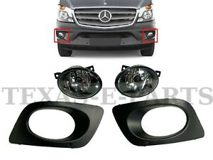 New Fits 2014-2018 Sprinter 2500 3500 Left Right Front Fog Light With Cover Set