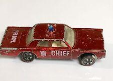 Fire Chief Cruiser Hotwheels Redline
