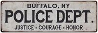 BUFFALO, NY POLICE DEPT. Home Decor Metal Sign Gift 106180012069