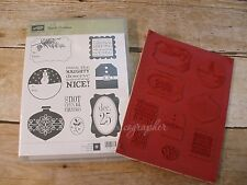 "NEW Stampin' Up ""Tags til Christmas"" Cling Foam Stamp Set"