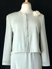 St John Collection Size 10/14 Sea Foam Skirt Suit