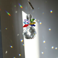 Rainbow Crystal Suncatcher Feng Shui Prism Hanging Pendant Angel Wedding Decor