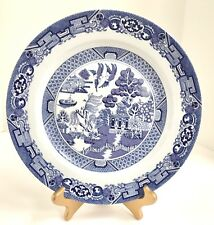 Vintage Royal Cuthbertson Blue Willow Ware 12 Chop Plate Serving Dish