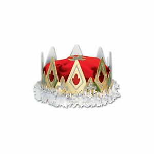 Medieval Royal Queen Crown Red