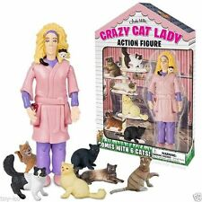 "Crazy Cat Lady Deluxe 5 "" Action Figure! Nuovo in Scatola con tanto di Gatti"
