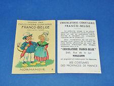 CHROMO CHOCOLATERIE FRANCO-BELGE HALLUIN NORD COSTUMES FRANCE NORMANDIE