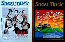 SHEET MUSIC MAGAZINE - BIG BAND SOUND - COVER STORIES  - (2) ISSUES -1987 & 1996