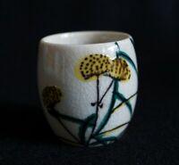 Japanese Pottery Sake Cup Ochoko Guinomi : singned Kutani
