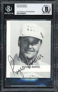 Roger Maris Autographed Signed 2.5x3 Cut Signature Yankees Beckett 12305879
