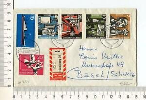 21238) GERMANY 11.10.1957 Registered Cover Hamburg Basel