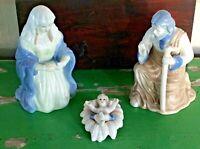JTS International 3 Pc Porcelain Nativity Holy Family Joseph Mary Jesus