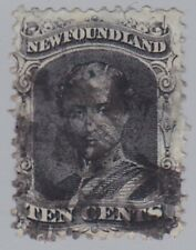 277) NEWFOUNDLAND 1866  10 Ct  PRINCE ALBERT USED  - CANADA - NFL