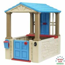 Plastic Playhouse for Kids Toddler Outdoor Backyard Play Games Boys and Girls