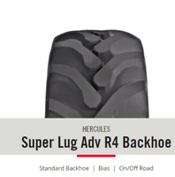 2 New Tires 16.9 24 Hercules Super Lug Adv R4 Backhoe 12 ply Tubeless ATD FR