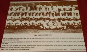 11 X 14 Photo Print Vintage 1967 New York Yankees Team Baseball Advertising Used