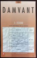 Swisstopo 1 : 25 000 Damvant (Land-)Karte, Landkarte Jahrgang 2007