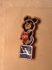 Olympic Canoe / Kayak Pin Badge Moscow Russia Summer Olympics 1980 Misha Mascot