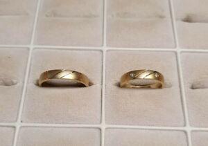 Trauringe Eheringe Verlobungsringe Gold 585er 2 Brillanten  7,9g !  Ungetragen!