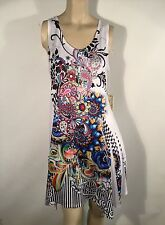 Luzabelle French Floral Striped Stretch Dress Size 8/10 S/M