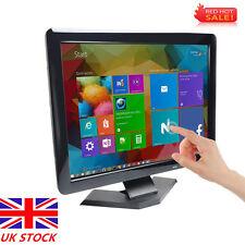 POS 15 inch TFT LED Touch Screen VGA/HDMI/AV Monitor For PC DVR Restauran Bar UK