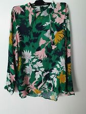 Joules beautiful floral print long sleeve top size UK 16