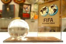 Prestigious Honorary Wooden Plaque From FIFA Soccer