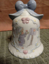 Precious Moments by Enesco 1995 ~ Sending a Speical Thank You ~ Gift Bell Post