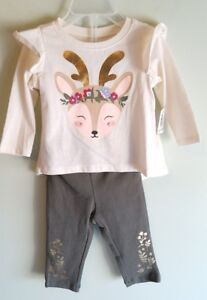 NEW Old Navy Girls 0-3 3-6 12-18 MONTHS Holiday Outfit REINDEER Winter #19018