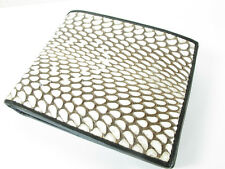 Genuine Cobra Snake Skin Leather Mens Bi-Fold Card Wallet Black + FREE SHIPPING