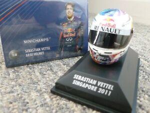 Minichamps 1/8 scale Arai Helmet Sebastian Vettel 2011 Singapore GP