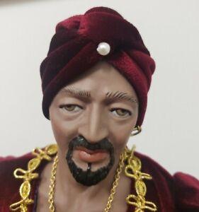 "Susan Dunham Shakespeare's Othello Doll 1990 Limited Edition Artisan Made 16"""