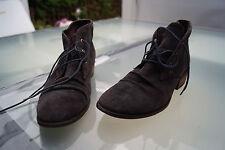 MEXX Damen Boots Stiefel Stiefeletten schick Gr.37 dunkelgrau wildleder TOP #79