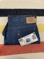 NOS Vintage 70's Levi's 517 Dura Plus Blue Denim Jeans Sz 42x30 NWT
